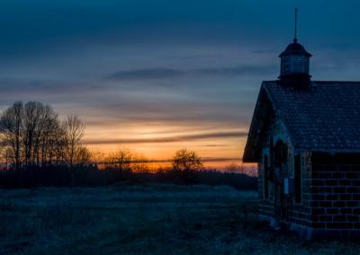 Slag Stone Barn at Sunset