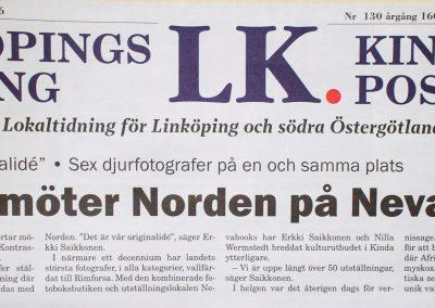 Framsida Linköpings Tidning / Kindaposten 2016-06-07