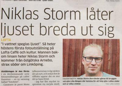 Reportage Västerviks-Tidningen 2016-09-02